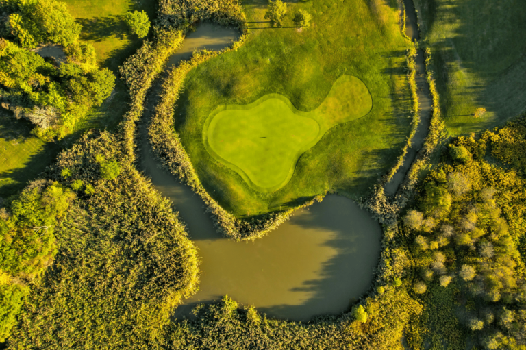 Aerial shot of hole 11