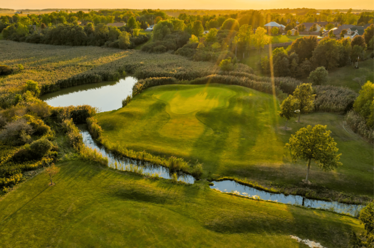 Kingswell Glen hole 11 at sunset.