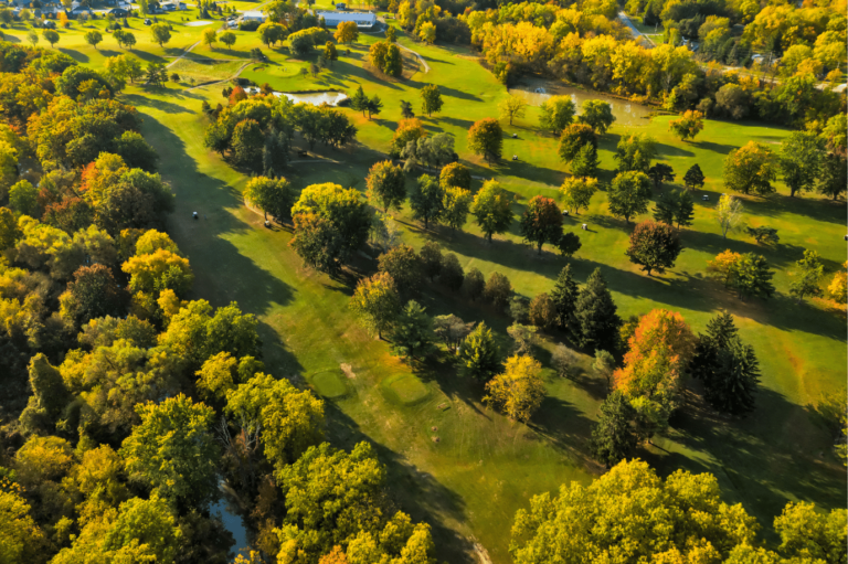 Aerial shot of the front 9